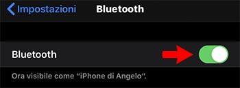 problemi bluetooth ios