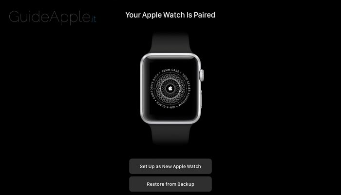 Come ripristinare backup Apple Watch