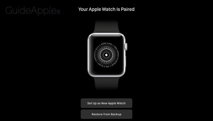 Come ripristinare backup Apple Watch