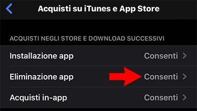 Non riesco ad eliminare app da iPhone