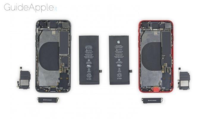 Quali componenti si possono scambiare iPhone SE e iPhone 8?