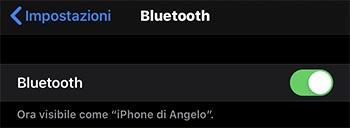 attivare bluetooth su iphone