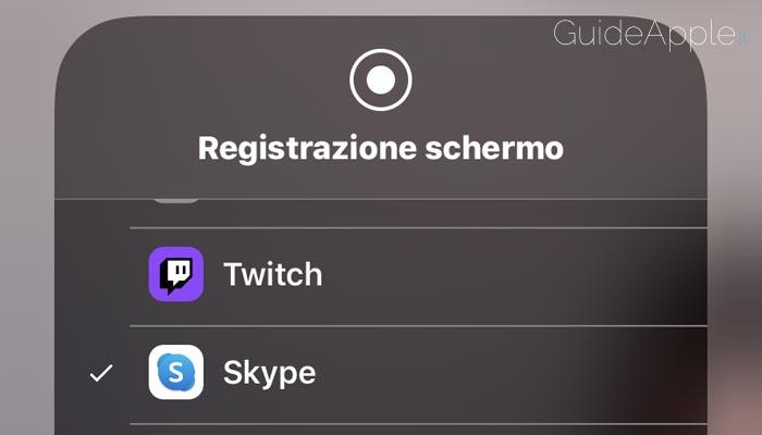 Come condividere schermo iPhone su Skype