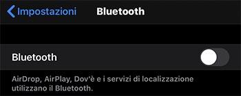 disattivare bluetooth su iphone