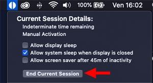 disattivare modalità stop mac
