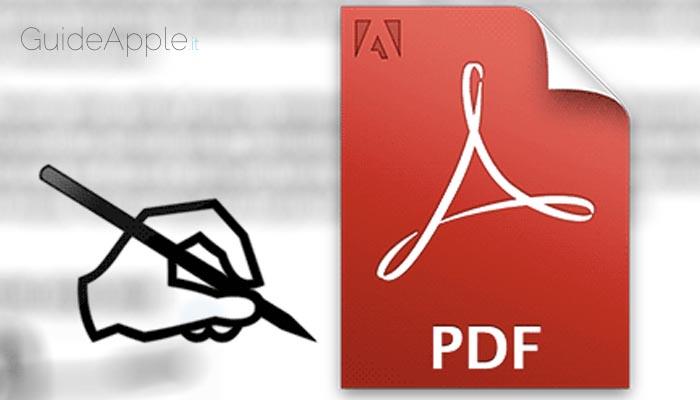 Come firmare un PDF su Mac