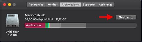 spazio archiviazione mac per gaming