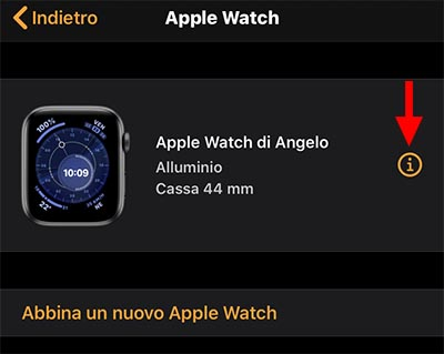 trova il mio apple watch