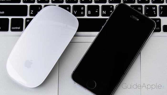 Come usare iPhone come mouse