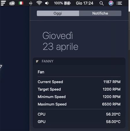 visualizzare temperatura cpu del mac