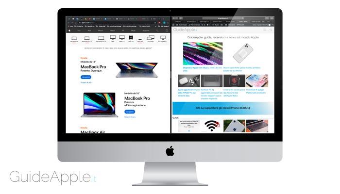 Come dividere lo schermo del Mac in due parti