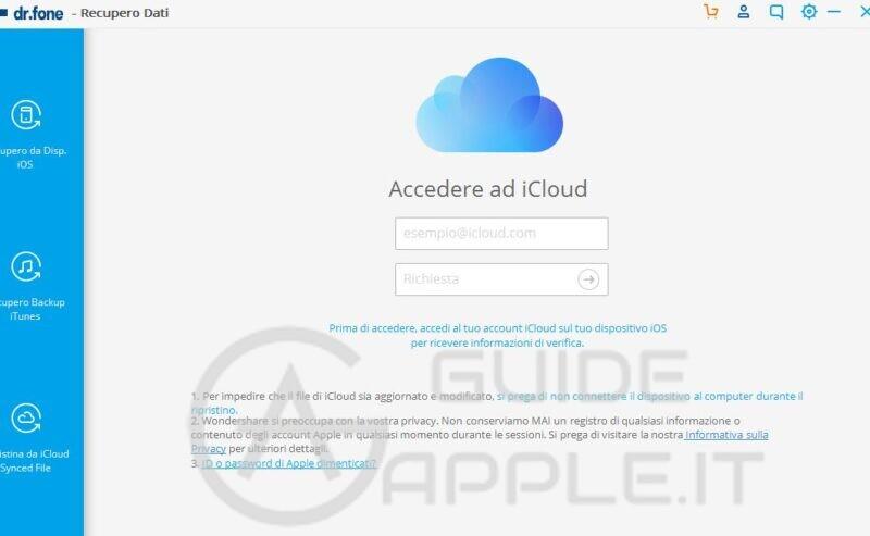 Come Visualizzare Contenuto Backup iCloud e Salvare dati sul PC / Mac