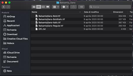 installazione font sul Mac