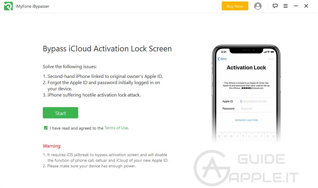 iBypasser: Software per Rimuovere Blocco Attivazione iCloud su iPhone/iPad
