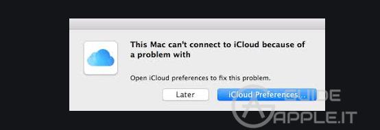 Mac non può connettersi a iCloud. Come Risolvere?