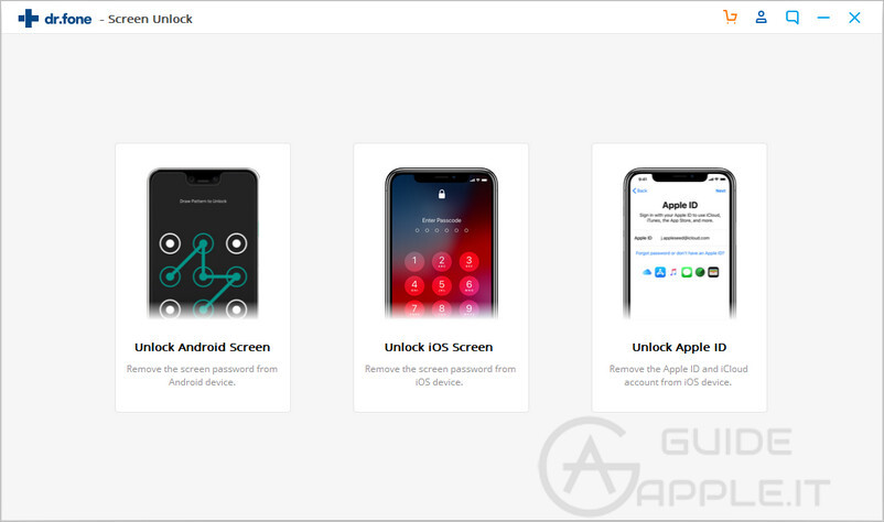 start to remove iphone lock screen