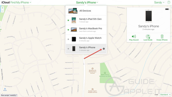find my iphone on icloud