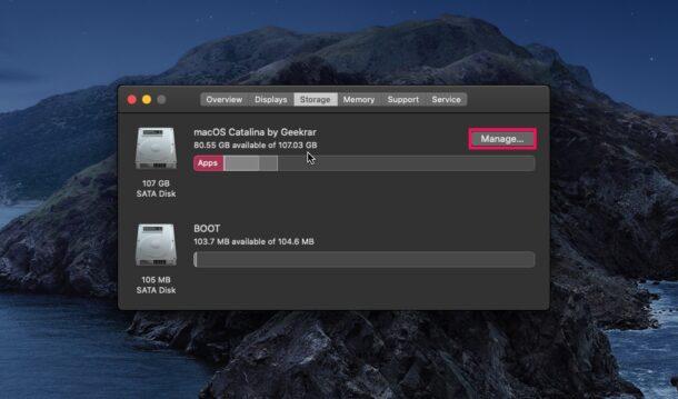 Come conoscere spazio libero/occupato sul Mac