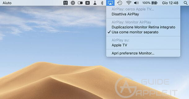 Come usare AirPlay su MacOS per duplicare schermo