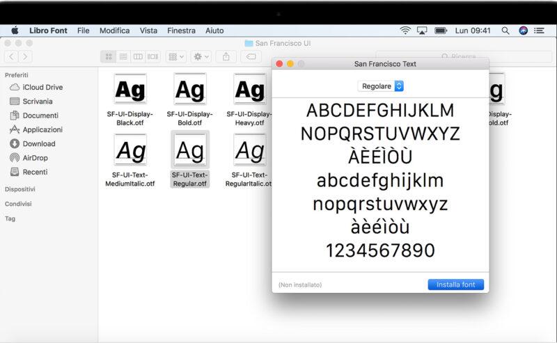 Come ripristinare i caratteri standard su MacOS