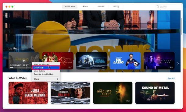 Come scaricare programmi AppleTV+ su Mac
