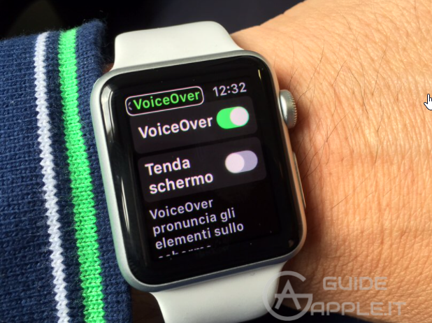 Come usare VoiceOver su Apple Watch