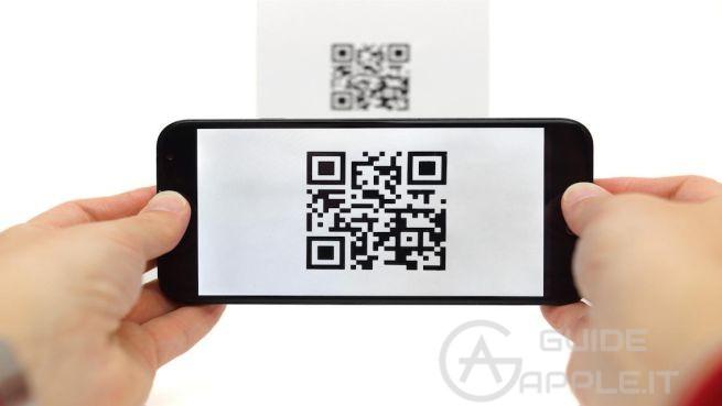 Leggere codice QR su iPhone tramite centro di controllo