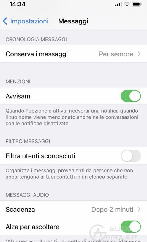 Come bloccare una persona su app Messaggi